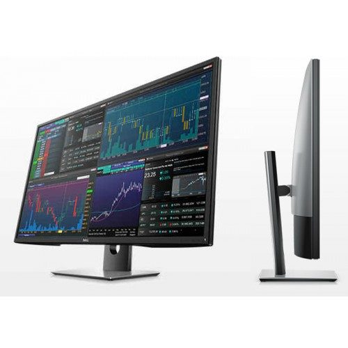 DELL P4317Q 42.5 inch Front and Side view