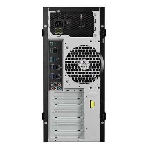 Asus ESC700 G4 Workstation rear view